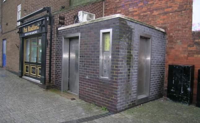 Public toilet for auction